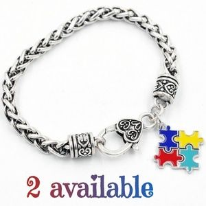 Jewelry - 🧩NWT Autism Awareness Puzzle Piece Bracelet